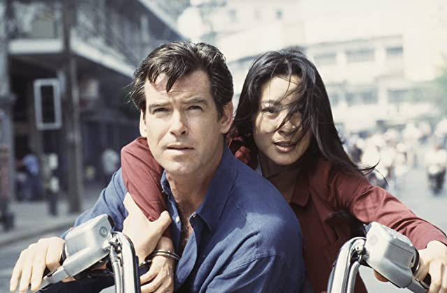 Pierce Brosnan and Michelle Yeoh in Tomorrow Never Dies (1997)