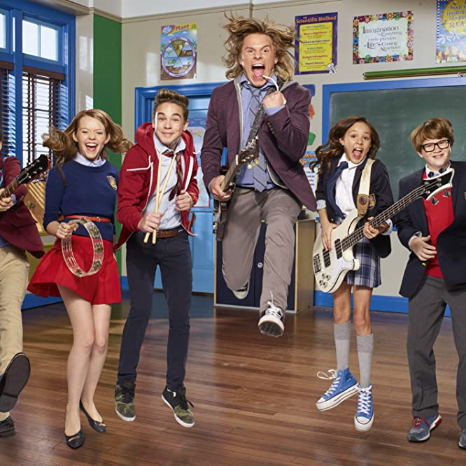 Jade Pettyjohn, Tony Cavalero, Aidan Miner, Breanna Yde, Lance Lim, and Ricardo Hurtado in School of Rock (2016)
