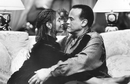 Harry Belafonte and Margaret Avery in White Man's Burden (1995)