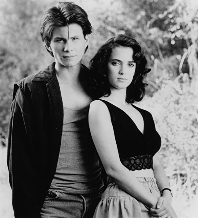 Winona Ryder and Christian Slater in Heathers (1988)