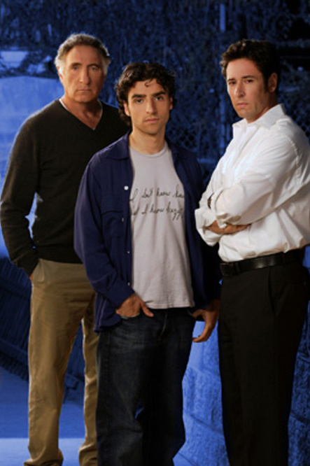 Rob Morrow, Judd Hirsch, and David Krumholtz in Numb3rs (2005)