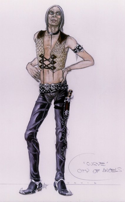 Costume design illustration for