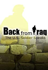 Back from Iraq: The US Soldier Speaks Poster