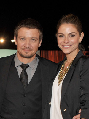 Jeremy Renner and Maria Menounos