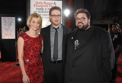 Kevin Smith, Elizabeth Banks, and Seth Rogen at an event for Zack and Miri Make a Porno (2008)