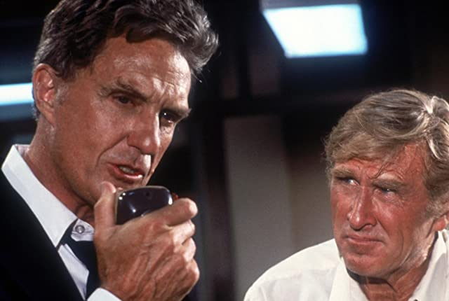 Lloyd Bridges and Robert Stack in Airplane! (1980)