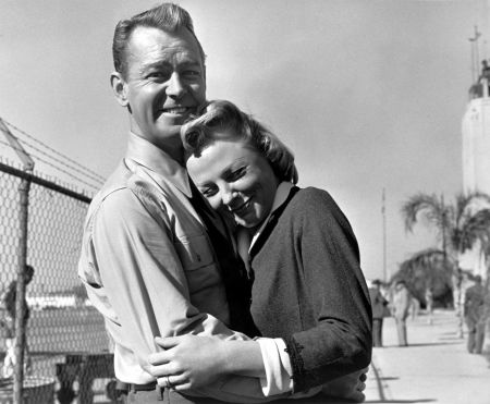 June Allyson and Alan Ladd on the set of