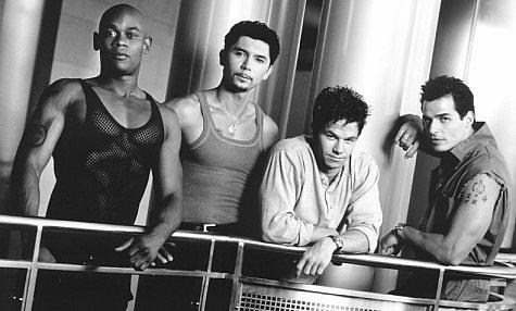 Mark Wahlberg, Lou Diamond Phillips, Antonio Sabato Jr., and Bokeem Woodbine in The Big Hit (1998)