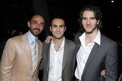 Shaun Toub, David Benioff, and Khalid Abdalla at an event for The Kite Runner (2007)