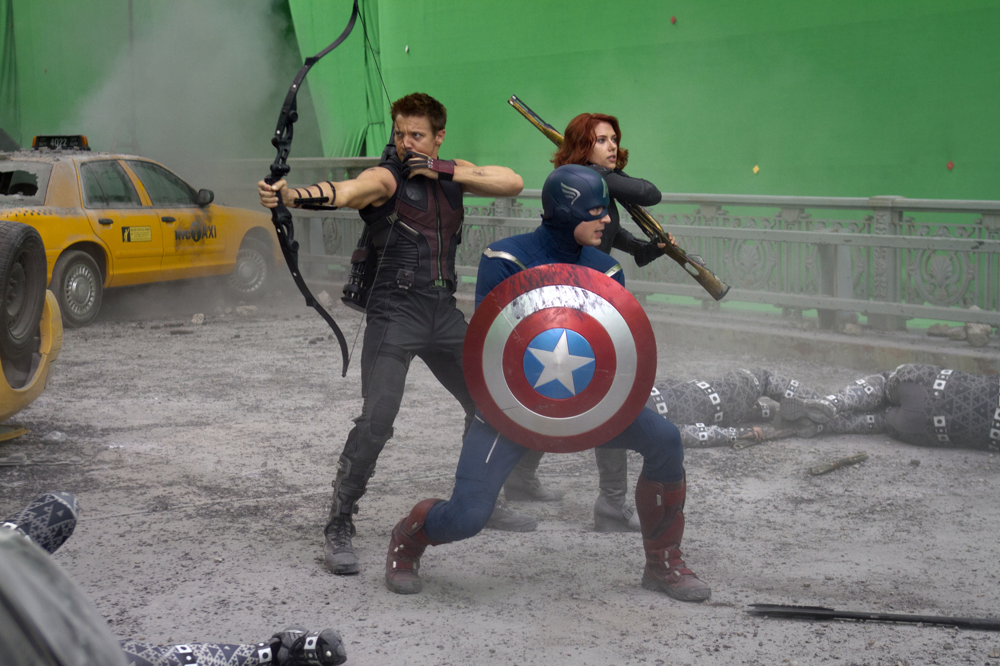 backstage view of the avengers