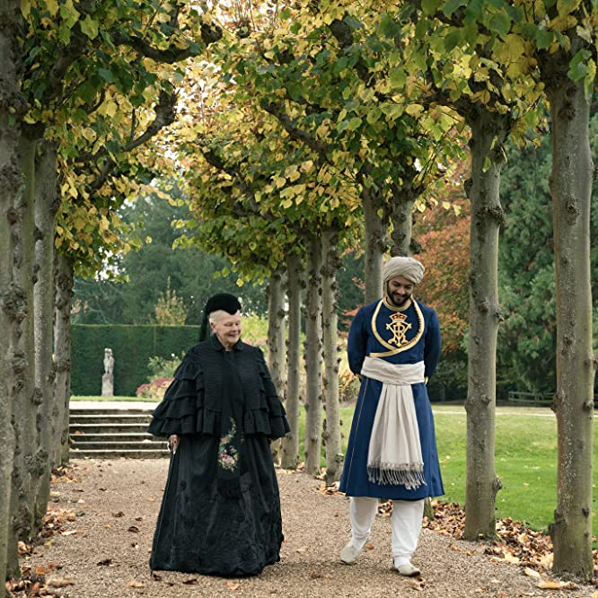 Judi Dench and Ali Fazal in Victoria and Abdul (2017)