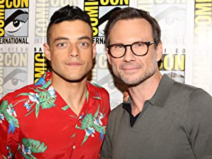 Christian Slater and Rami Malek at Mr. Robot (2015)