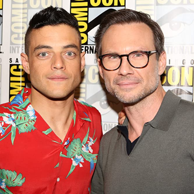 Christian Slater and Rami Malek at an event for Mr. Robot (2015)