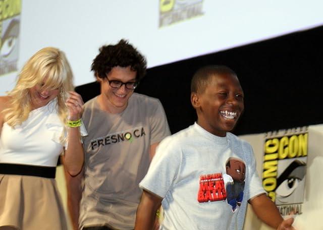 Anna Faris and Bobb'e J. Thompson flank co-director Phil Lord.