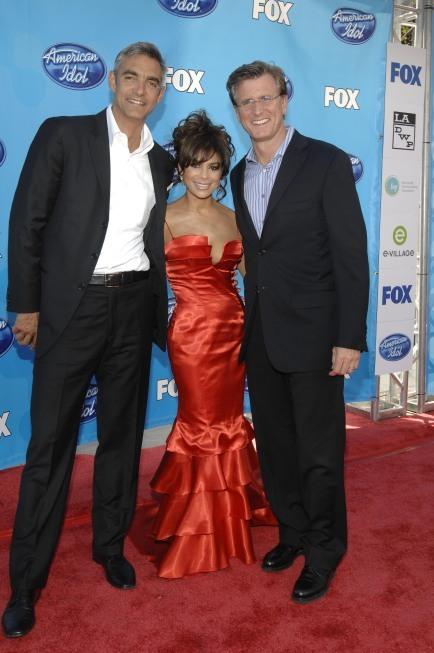 Paula Abdul and Peter Liguori in American Idol (2002)