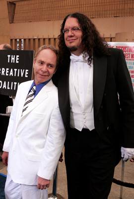 Penn Jillette and Teller at an event for The Aristocrats (2005)