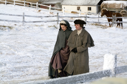 Laura Linney and Paul Giamatti in John Adams (2008)