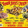 Carmen Miranda, Betty Grable, Alice Faye, Kay Francis, Dick Haymes, George Jessel, Carole Landis, Mitzi Mayfair, Martha Raye, Phil Silvers, and Jimmy Dorsey and His Orchestra in Four Jills in a Jeep (1944)