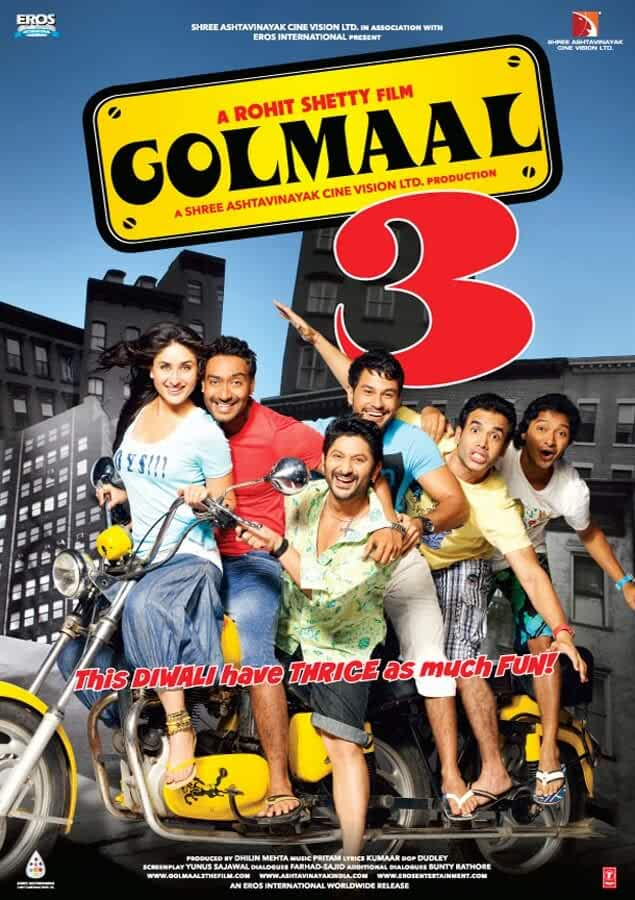 Golmaal 3 2010 Hindi 720p Bluray full movie watch online freee download at movies365.org