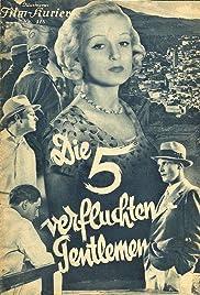 Die fünf verfluchten Gentlemen Poster