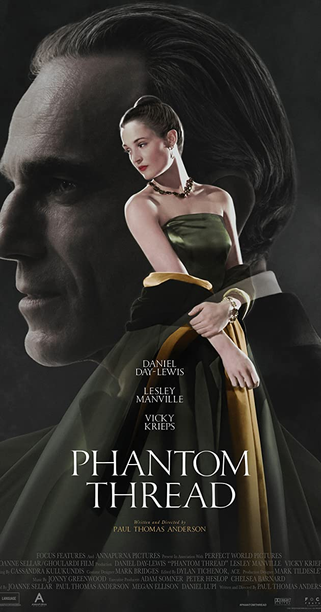 Image result for phantom thread movie poster