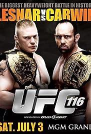 UFC 116: Lesnar vs. Carwin Poster