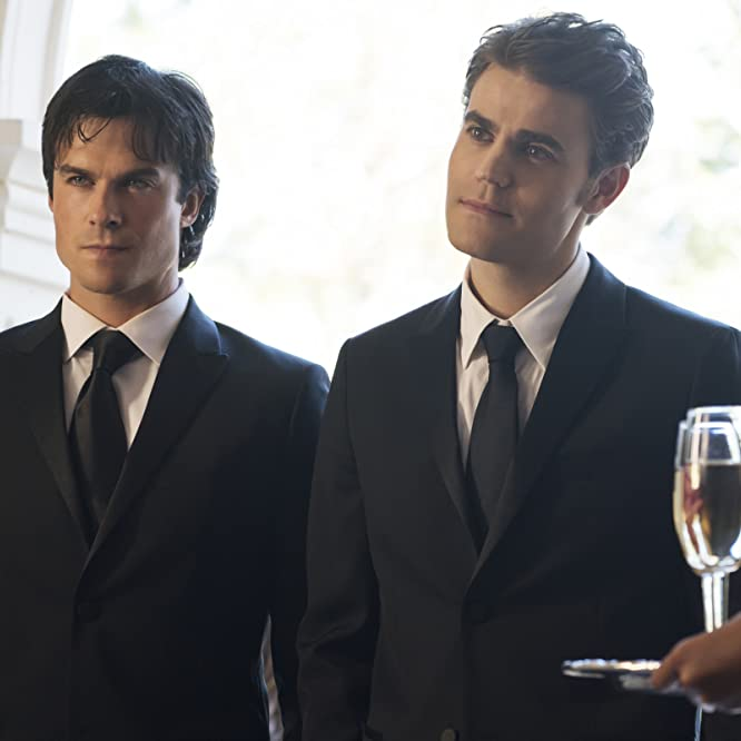 Ian Somerhalder and Paul Wesley in The Vampire Diaries (2009)