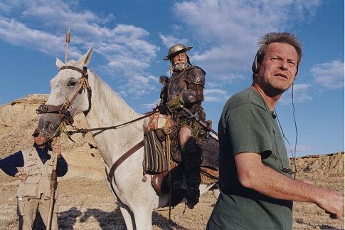 Terry Gilliam and Jean Rochefort in Lost in La Mancha (2002)