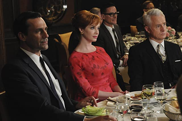 Jon Hamm, Christina Hendricks, and John Slattery in Mad Men (2007)