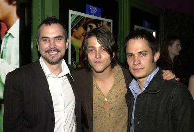 Alfonso Cuarón, Gael García Bernal, and Diego Luna at Y Tu Mamá También (2001)