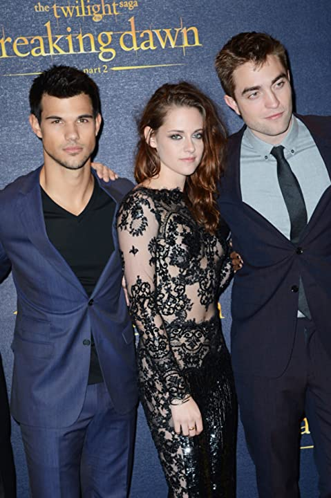 Kristen Stewart, Taylor Lautner, and Robert Pattinson at an event for The Twilight Saga: Breaking Dawn - Part 2 (2012)
