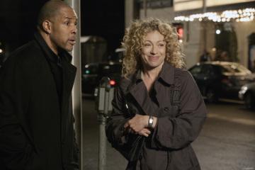 Alex Kingston and Eriq La Salle in ER (1994)