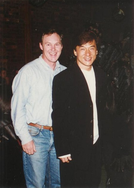 John Fox & Jackie Chan on the set of