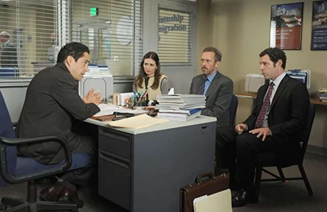 John Gloria, Hugh Laurie, José Zúñiga, and Karolina Wydra in House M.D. (2004)