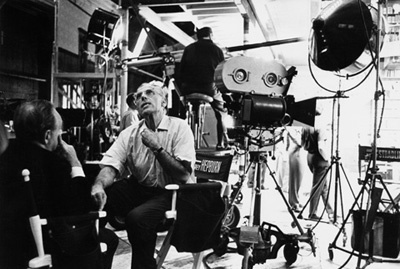 Director George Cukor and Steve Trilling during the making of