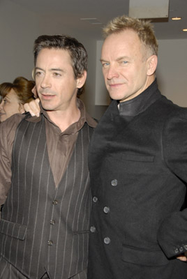 Robert Downey Jr. and Sting at A Guide to Recognizing Your Saints (2006)