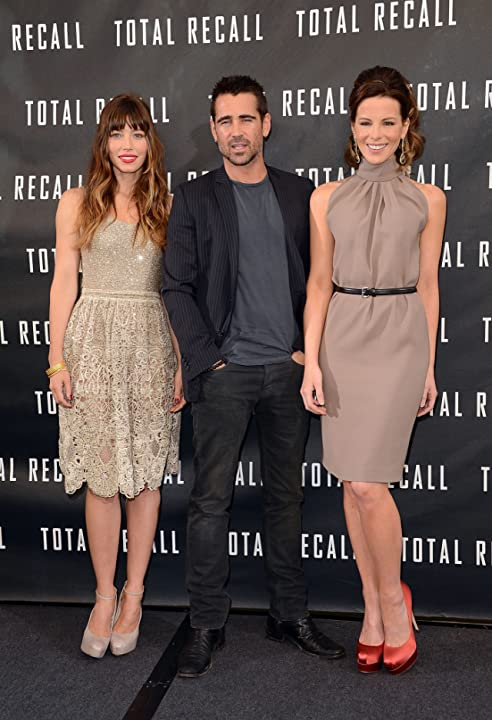 Kate Beckinsale, Jessica Biel, and Colin Farrell at Total Recall (2012)