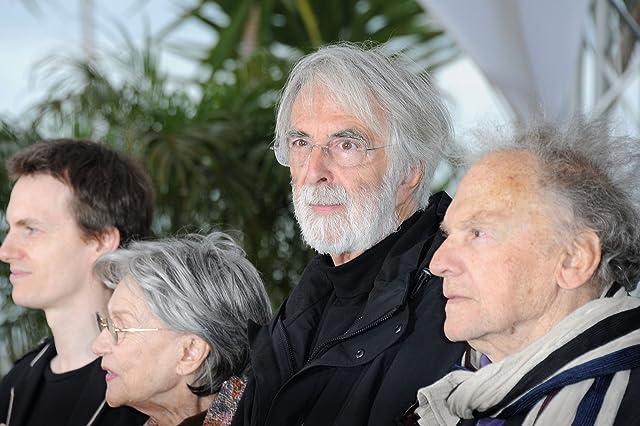 Jean-Louis Trintignant, Michael Haneke, Emmanuelle Riva, and Alexandre Tharaud at Amour (2012)