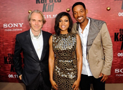 Will Smith, Taraji P. Henson, and Harald Zwart at an event for The Karate Kid (2010)