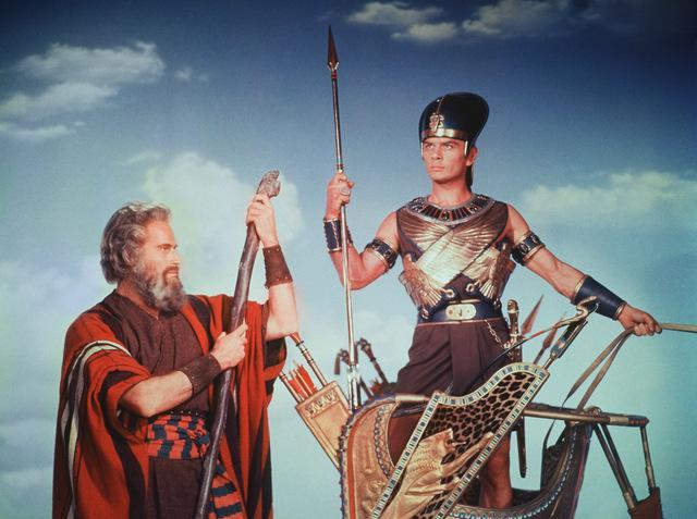 Charlton Heston and Yul Brynner in The Ten Commandments (1956)