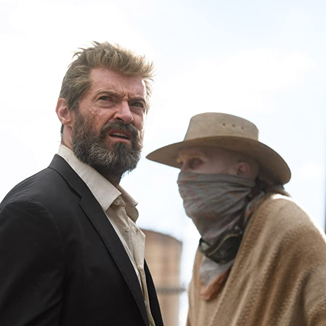 Hugh Jackman and Stephen Merchant in Logan (2017)