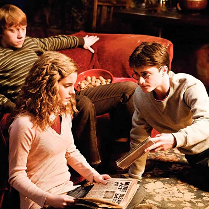 Rupert Grint, Daniel Radcliffe, and Emma Watson in Harry Potter and the Half-Blood Prince (2009)