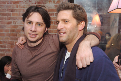 Zach Braff and Gary Gilbert at an event for Garden State (2004)