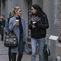 Krysten Ritter and Rachael Taylor in The Defenders (2017)