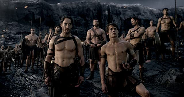 Callan Mulvey and Jack O'Connell in 300: Rise of an Empire (2014)