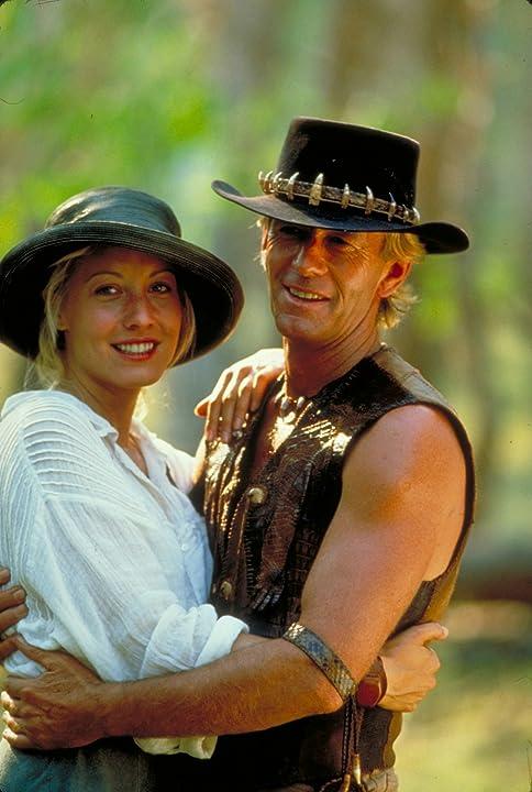 Paul Hogan and Linda Kozlowski in Crocodile Dundee II (1988)