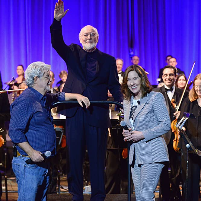 George Lucas, John Williams, and Kathleen Kennedy