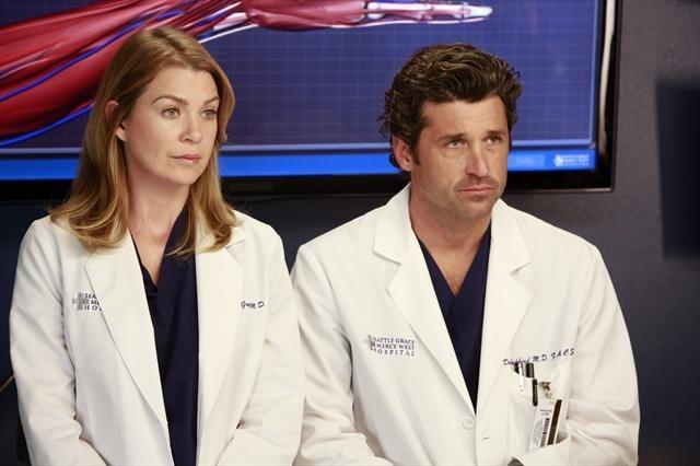 Patrick Dempsey and Ellen Pompeo in Grey's Anatomy (2005)