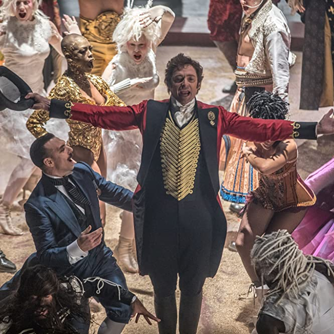 Hugh Jackman and Keala Settle in The Greatest Showman (2017)
