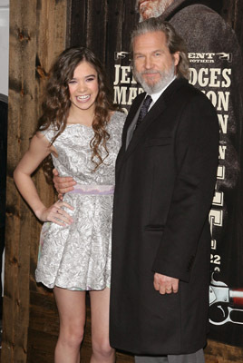 Jeff Bridges and Hailee Steinfeld at True Grit (2010)